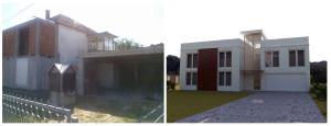 предлог реконструкције стамбеног објекта у ул. милана бабића бр.2 - предња фасада