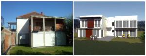 предлог реконструкције стамбеног објекта у ул. милана бабића бр.2 - задња фасада